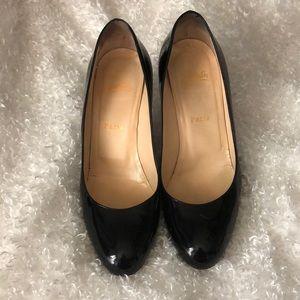 Christian Louboutin 38.5 black patent leather